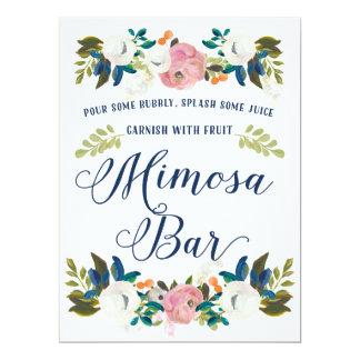Mimosa Bar Bridal Shower Sign Card