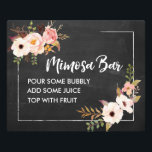 "Mimosa Bar Rustic Floral Chalkboard Wedding Sign<br><div class=""desc"">• • • • Visit http://bit.ly/2rwj7Il for the complete Penelope suite.</div>"