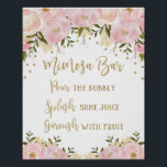 "Mimosa Bar Sign Blush Pink Gold Floral Wedding<br><div class=""desc"">MIMOSA BAR SIGN