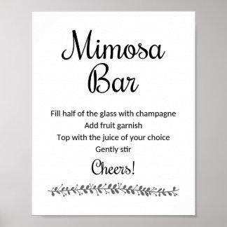 Mimosa Bar Sign - Rochester