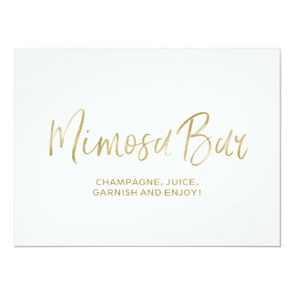 """Mimosa Bar"" Wedding Sign 