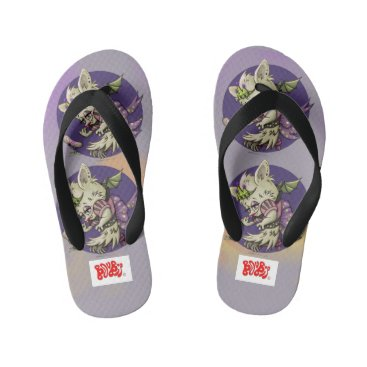 Beach Themed MIMOSA CUTE LITTLE BAT  Flip Flops Kids  Toddler