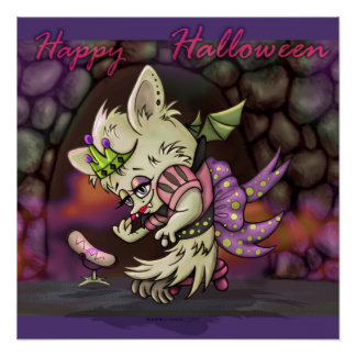 MIMOSA LITTLE BAT HALLOWEEN PERFECT POSTER
