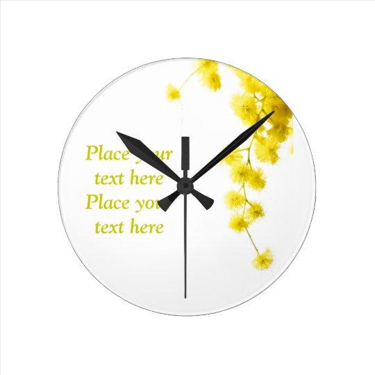 Mimosa Round Clock