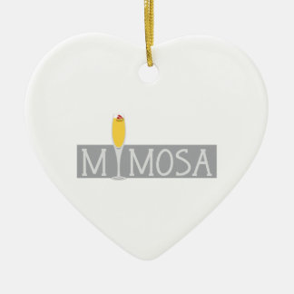 Mimosa Sign Ceramic Ornament