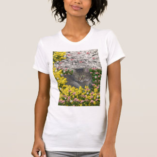 Mimosa the Tiger Tabby Cat in Mimosa Flowers T-Shirt