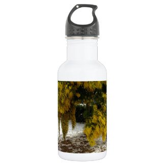 Mimosa tree in the snow 18oz water bottle