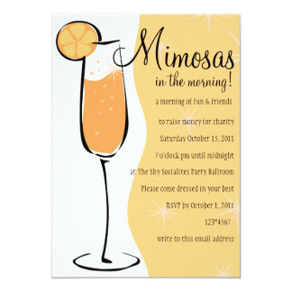 """Mimosas Invitación 5"""" X 7"""""""
