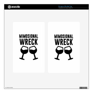 Mimosional Wreck Decal For Kindle Fire