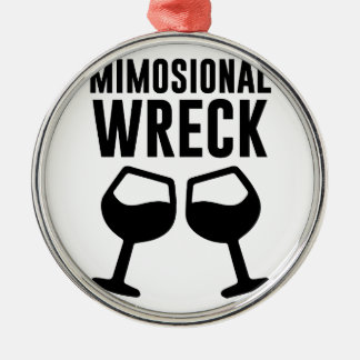 Mimosional Wreck Metal Ornament