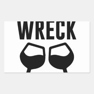 Mimosional Wreck Rectangular Sticker