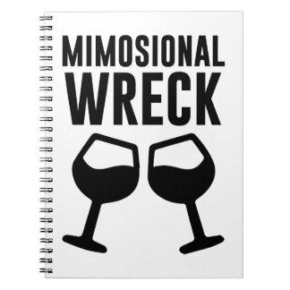 Mimosional Wreck Spiral Notebook