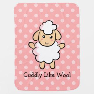 Mimoso como las lanas, ovejas lindas para las niña mantas de bebé