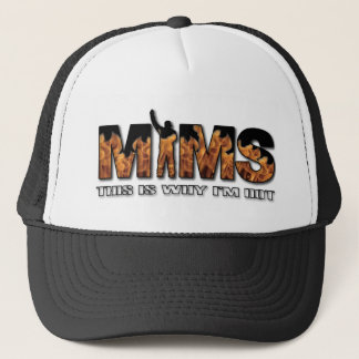 MIMS Hat -  This is Why I'm Hot Logo - White