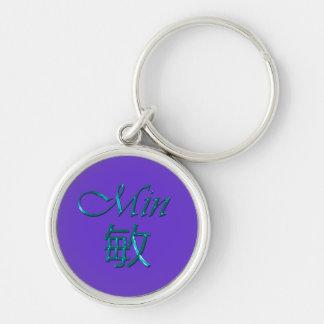 MIN Name-Branded Gift Key-chain, Zipper-pull Keychain
