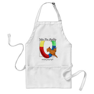 Min Pin Agility Tire Adult Apron