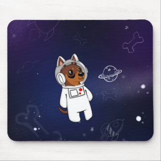 Min Pin Astronaut in Space Mousepad (Chocolate)