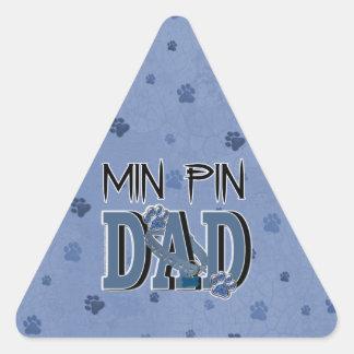 Min Pin DAD Triangle Sticker