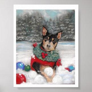 Min Pin Dog Poster