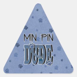 Min Pin DUDE Triangle Sticker