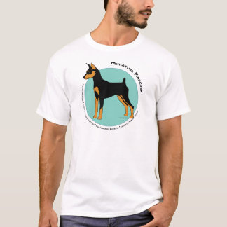 Min Pin Fearless Black and Tan on Green T-Shirt