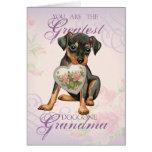 Min Pin Heart Grandma Card