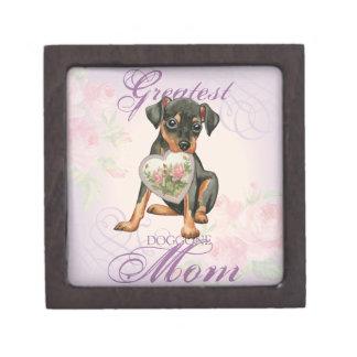 Min Pin Heart Mom Keepsake Box