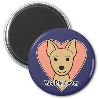 Min Pin  Lover 2 Inch Round Magnet