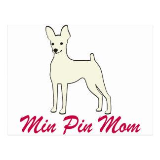 Min Pin Mom Postcard