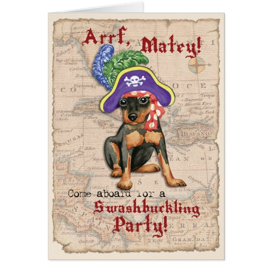 Min Pin Pirate Card