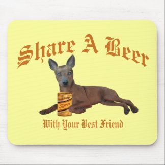 Min Pin Share A Beer Mouse Pad