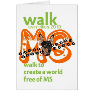 Min Pins For Multiple Sclerosis Cure Card