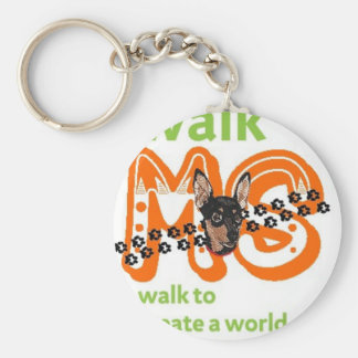 Min Pins For Multiple Sclerosis Cure Keychain