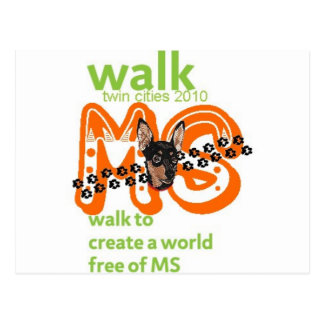 Min Pins For Multiple Sclerosis Cure Postcard
