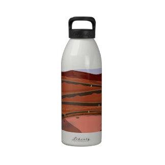 Mina a cielo abierto botella de agua