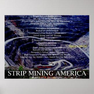Mina a cielo abierto América Poster