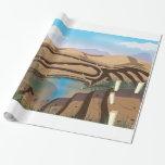 Mina a cielo abierto inundada papel de regalo