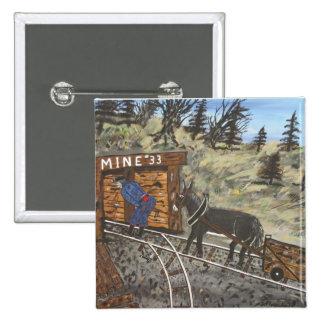 Mina de carbón con el burro pin