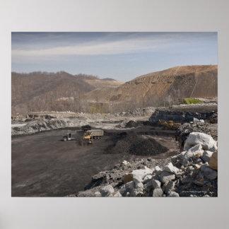 Mina de carbón superficial de la cima de la montañ posters