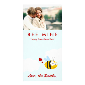 Mina de la abeja tarjeta fotográfica