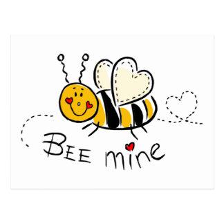 Mina de la abeja tarjetas postales