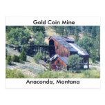Mina de la moneda de oro tarjetas postales