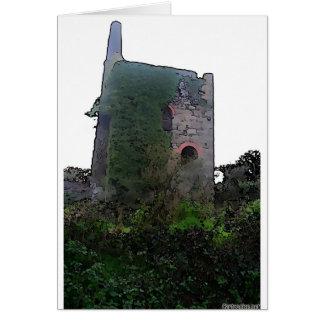 Mina de lata de Cornualles histórica Tarjeta De Felicitación
