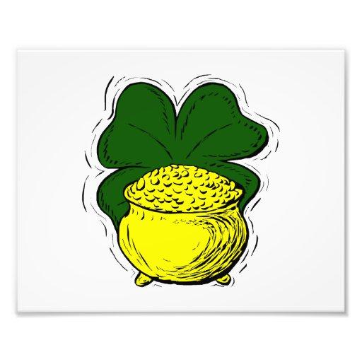Mina de oro afortunada verde graphic.png del trébo fotografías