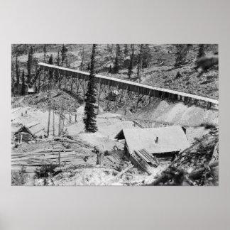 Mina de oro de Dewey en la montaña del trueno, Ida Impresiones