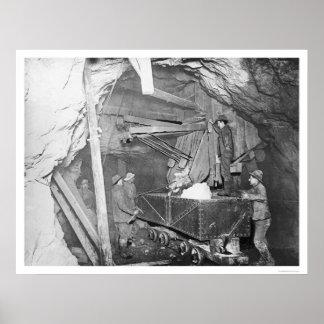 Mina de oro de Treadwell Alaska 1916 Posters
