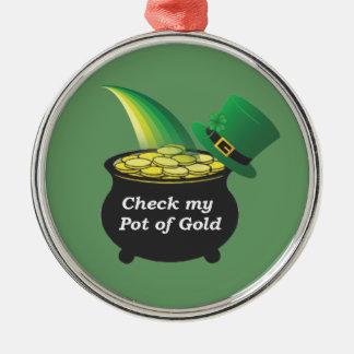 Mina de oro ornamentos de navidad