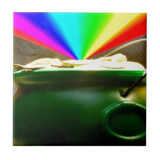 Mina de oro del arco iris azulejo cuadrado pequeño