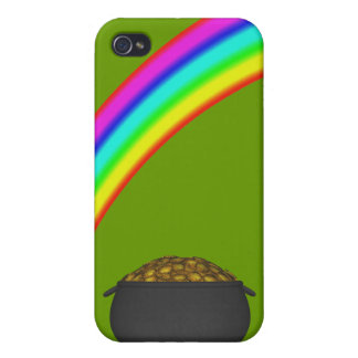 Mina de oro del arco iris iPhone 4 carcasa
