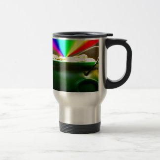 Mina de oro del arco iris tazas de café